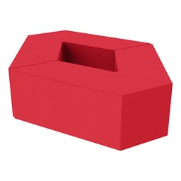 "Foam Soft Seating Set - Diamond Pack 12"" Seat Height (Set of Two V-Shape) - Red"