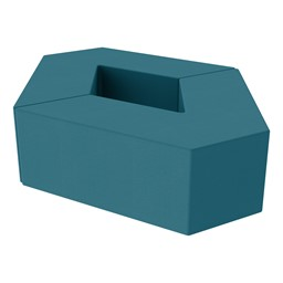 "Foam Soft Seating Set - Diamond Pack 12"" Seat Height (Set of Two V-Shape) - Teal"