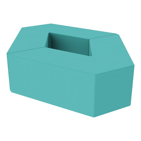 "Foam Soft Seating Set - Diamond Pack 12"" Seat Height (Set of Two V-Shape) - Turquoise"