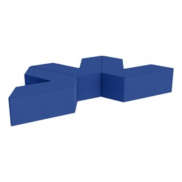 "Foam Soft Seating Set - Three Pack V-Shape - 12\"" Seat Height (Set of Three V-Shape) - Blue"