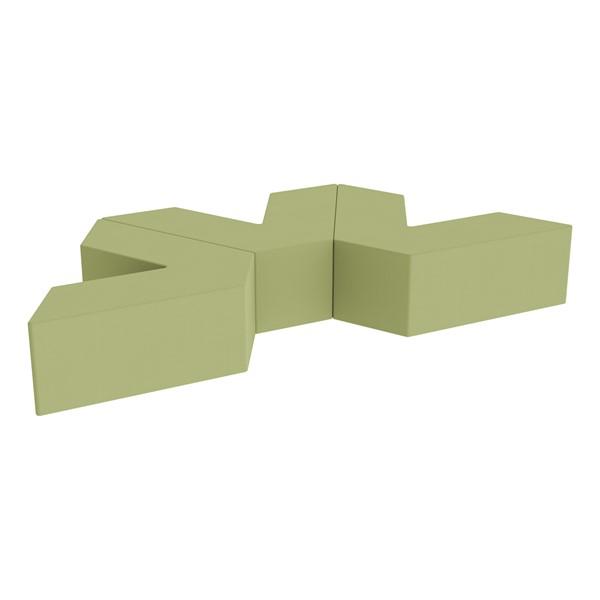 "Foam Soft Seating Set - Three Pack V-Shape - 12"" Seat Height (Set of Three V-Shape) - Fern Green"