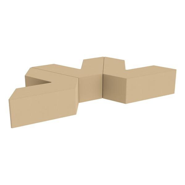 "Foam Soft Seating Set - Three Pack V-Shape - 12"" Seat Height (Set of Three V-Shape) - Sand"