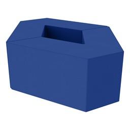 "Foam Soft Seating Set - Diamond Pack (Set of Two 16"" H V-Shape) - Blue"
