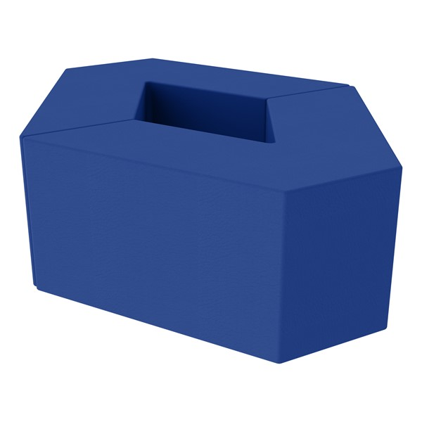 "Foam Soft Seating Set - Diamond Pack 16"" Seat Height (Set of Two V-Shape) - Blue"