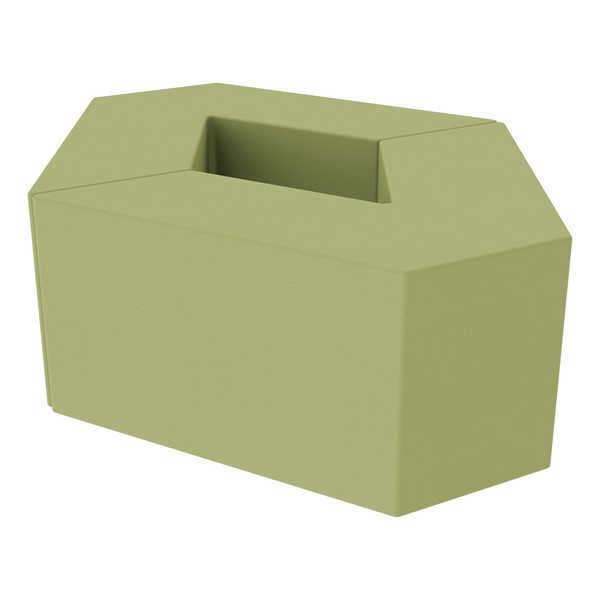 "Foam Soft Seating Set - Diamond Pack 16"" Seat Height (Set of Two V-Shape) - Fern Green"