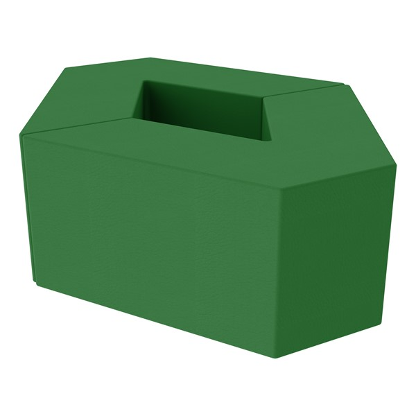 """Foam Soft Seating Set - Diamond Pack 16"""" Seat Height (Set of Two V-Shape) - Green"""