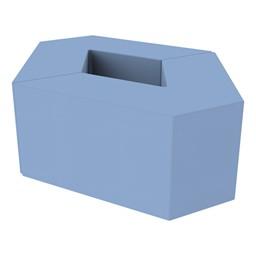 "Foam Soft Seating Set - Diamond Pack 16"" Seat Height (Set of Two V-Shape) - Powder Blue"