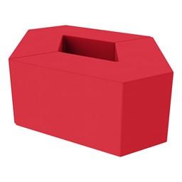 "Foam Soft Seating Set - Diamond Pack (Set of Two 16"" H V-Shape) - Red"