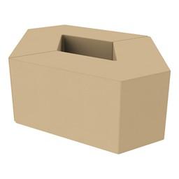 "Foam Soft Seating Set - Diamond Pack 16"" Seat Height (Set of Two V-Shape) - Sand"