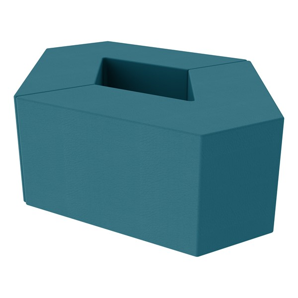 """Foam Soft Seating Set - Diamond Pack 16"""" Seat Height (Set of Two V-Shape) - Teal"""