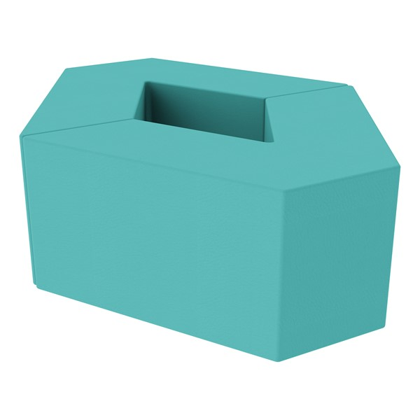 """Foam Soft Seating Set - Diamond Pack 16"""" Seat Height (Set of Two V-Shape) - Turquoise"""
