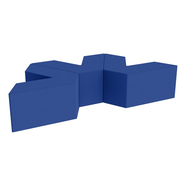 "Foam Soft Seating Set - Three Pack V-Shape - 16"" H Seat Height (Set of Three V-Shape) - Blue"