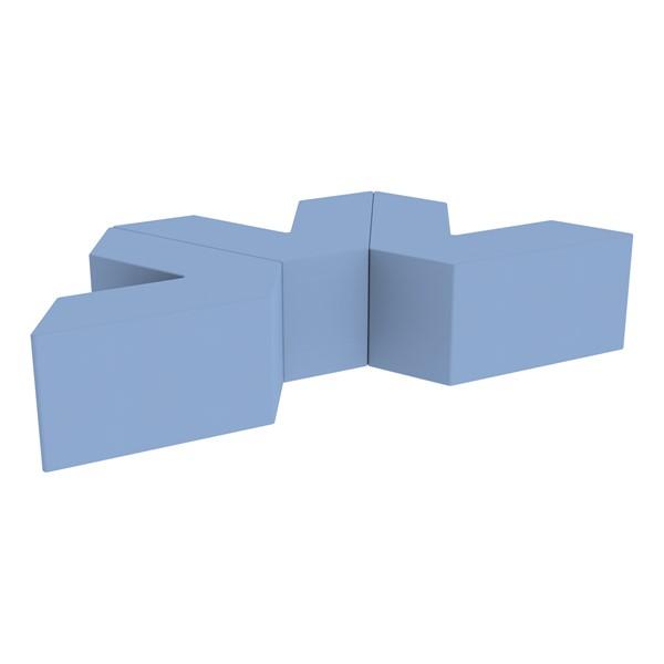 "Foam Soft Seating Set - Three Pack V-Shape - 16"" H Seat Height (Set of Three V-Shape) - Powder Blue"