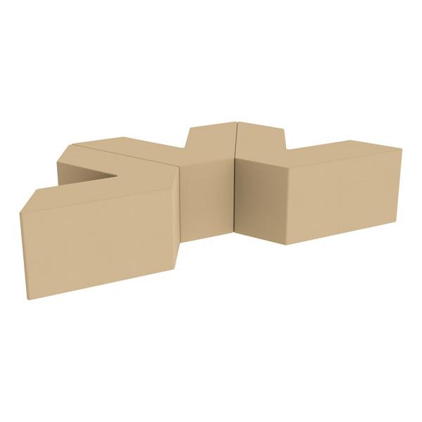 "Foam Soft Seating Set - Three Pack V-Shape - 16"" H Seat Height (Set of Three V-Shape) - Sand"