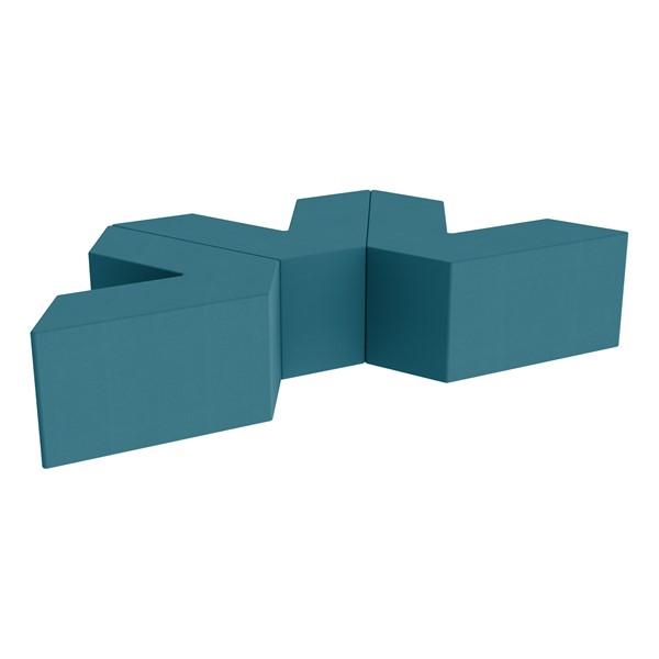 "Foam Soft Seating Set - Three Pack V-Shape - 16"" H Seat Height (Set of Three V-Shape) - Teal"
