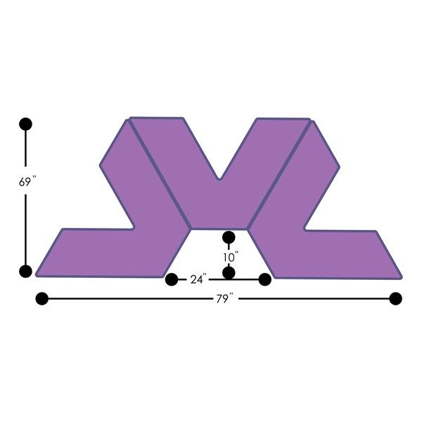 "Foam Soft Seating Set - Three Pack V-Shape - 16"" H Seat Height (Set of Three V-Shape) - Grouped Footprint"