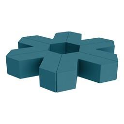 "Foam Soft Seating Set - Single Height Asterisk Shape (12"" H) - Teal"