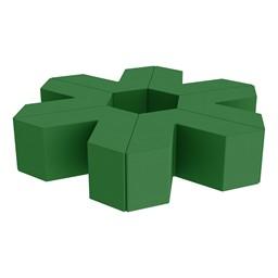 "Foam Soft Seating Set - Single Height Asterisk Shape (16"" H) - Green"
