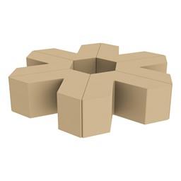 "Foam Soft Seating Set - Single Height Asterisk Shape (16"" H) - Sand"