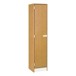 "72"" H One-Wide Single-Tier Locker - Shown in Light Oak w/ door closed"