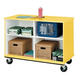 Counter-Height Mobile Shelf Storage Cabinet - Shown w/ four compartments