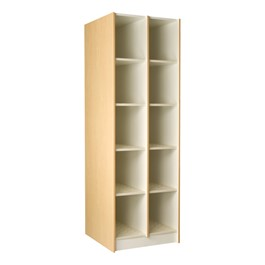 "Medium Instrument Lockers w/o Doors - 10 Compartments (12 1/4"" W x 27\"" D x 15\"" H)"