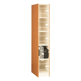 "Medium Instrument Lockers w/ Grille Doors - 5 Compartments (12 1/4"" W x 27\"" D x 15\"" H)"