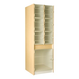 "Multi-Sized Instrument Locker w/ Grille Doors - 7 Compartments (27"" D)"