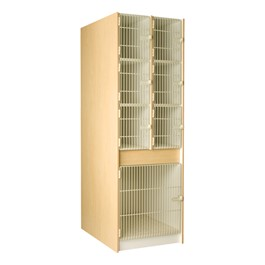 "Multi-Sized Instrument Locker w/ Grille Doors - 7 Compartments (37 7/8"" D)"