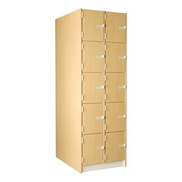 "Medium Instrument Lockers w/ Solid Doors - 10 Compartments (12 1/4"" W x 37 7/8\"" D x 15\"" H)"