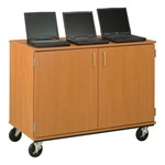 Locking Laptop Mobile Storage Cabinet