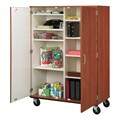 Tall Mobile Shelf Storage Cabinet