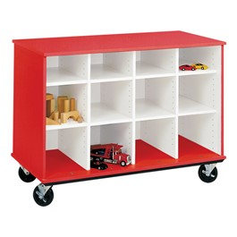 Counter-Height Mobile Shelf Storage Cabinet w/out Doors (12 Compartments)