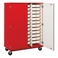 Tall Mobile Heavy-Duty Tray Storage Cabinet