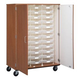 Tall Mobile Tray Storage Cabinet