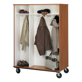 Double-Sided Open Wardrobe Storage Cabinet