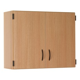 "36"" W Wall-Mount Upper Cabinet w/ Lockable Solid Doors"
