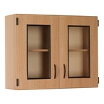 "36"" W Glass Display Wall-Mount Upper Cabinet"