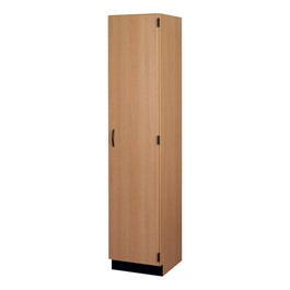 Tall Storage Cabinet w/ Wood Doors - Right Hinge Lockable Door