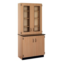 Science Hutch Cabinet w/ Glass Display Doors