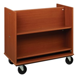 Sloped Shelf Book Truck