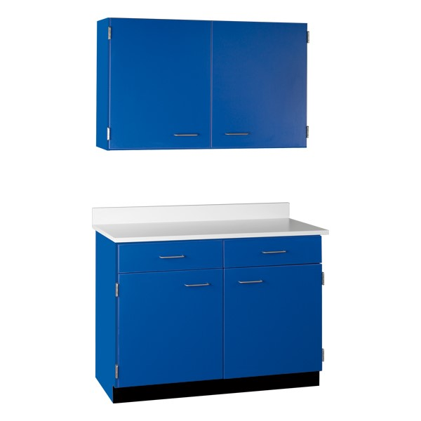 2-Door Wall Unit & 2-Door/2-Drawer Base Unit Cabinet Suite