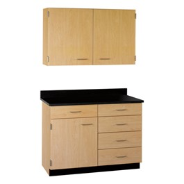 2-Door Wall Unit & 1-Door/5-Drawer Base Unit Cabinet Suite