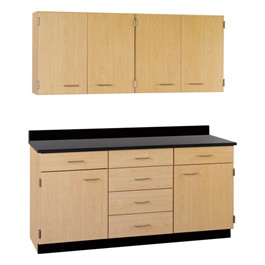 4-Door Wall Unit & 2-Door/6-Drawer Base Unit Cabinet Suite