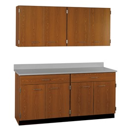 4-Door Wall Unit & 4-Door/2-Drawer Base Unit Cabinet Suite