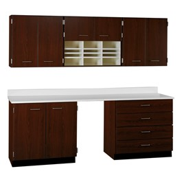 6-Door Wall Unit w/ Form Slots & 2-Door/4-Drawer Base Unit Cabinet Suite