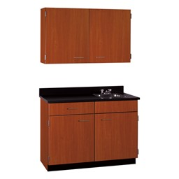 2-Door Wall Unit & 2-Door/1-Drawer Sink Base Unit Cabinet Suite
