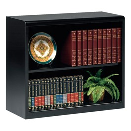 "Executive Bookcase w/ out Doors (30"" H) - Black"