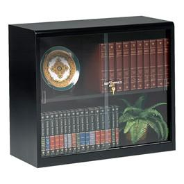 "Executive Bookcase w/ Glass Doors (30\"" H) - Black"
