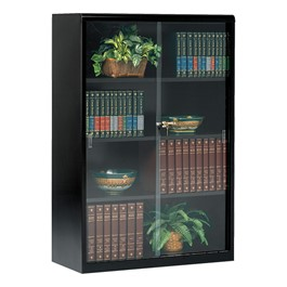 "Executive Bookcase w/ Glass Doors (52\"" H) - Black"